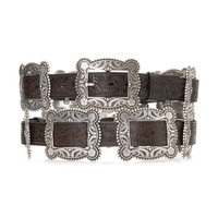 Nocona Women's Antiqued Rectangle Concho Belt