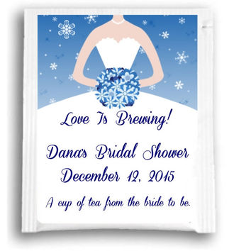 Baby Its Cold Outside Bridal Shower Tea Favors