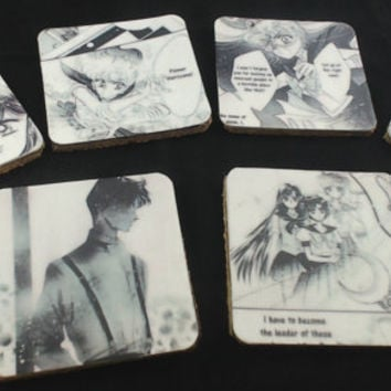 Manga Drink Coasters Sailor Moon & The Sailor Senshi Set of 6
