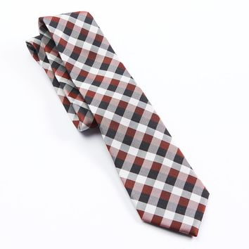 Croft & Barrow Gingham-Plaid Heather Tie