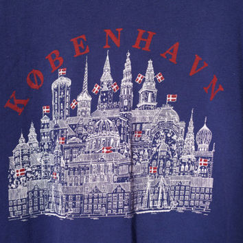 København Sweatershirt, Copenhagen Medium Sweatshirt, Vintage Copenhagen Large Sweater