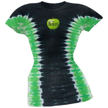 The Beatles - Apple Logo Tie Dye Juniors T-Shirt