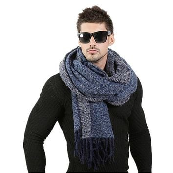Men Fashion Design Scarves Men Winter Wool Knitted Cashmere Scarf Couple's