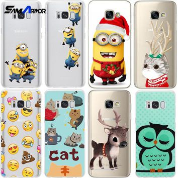Minions Coque Case for iPhone X 8 7 Plus 6 5 for Samsung Galaxy Note8 S8 S6 S7 J120 J7 J2 Prime A5 A3 2017 For Huawei P10 i9060