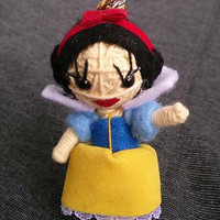 Princess Snow White Disney Collectible Voodoo String Doll Fairy Tales Funny Keyring Keychain Key Ring Chain Bag Car Link Deco Bike Hip Funky