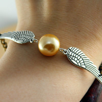Harry Potter Golden Snitch bracelet with by sweethearteverybody