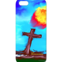 "BUY This Awesome ""Faith"" iPhone and Android Phone Covers. Cross Painting by Rossouw. Enjoy this #Inspiring Cross-Painting."