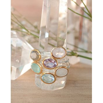 Alice Gemstone Stackable Ring (BJR042)
