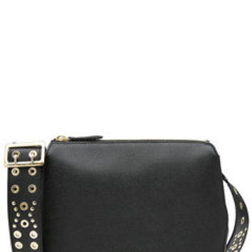 Leather Shoulder Bag with Embellishment - Burberry Shoes & Accessories | WOMEN | US STYLEBOP.com