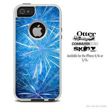 The Blue Fireworks Skin For The iPhone 4-4s or 5-5s Otterbox Commuter Case