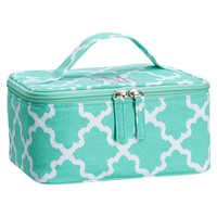 Sleepover Pool/White Diamond Lattice Nailpolish Case