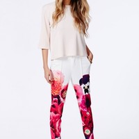 Missguided - Felicja Floral Print Cigarette Trousers