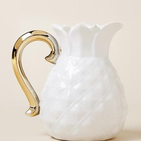 Small Pineapple Jug With Gold Handle