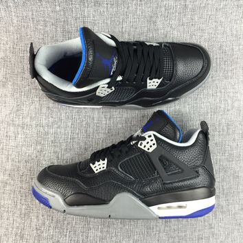 Air Jordan Retro 4 Alternate Motorsport Men Basketball Shoes 4s Motorsports Game Royal Black Blue Athletic Sneakers With Shoes Box