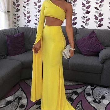 Abby Lyn Off-the-Shoulder Maxi Gown