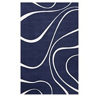 Therese Abstract Swirl 5x8 Area Rug