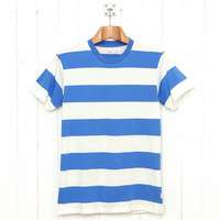 Howies Block Stripe T (Navy White) from Oi Polloi