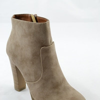 Basic Fall Booties - Taupe