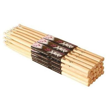 Hickory 5A Nylon Tip Drumsticks 12 Pairs By On Stage