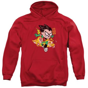Teen Titans Go - Robin Adult Pull Over Hoodie Officially Licensed Apparel