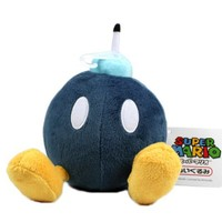 "5"" Official Sanei Bob-omb Soft Stuffed Plush Super Mario Plush Series Plush Doll Japanese Import"