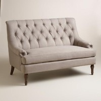 Gray Giselle Tufted Love Seat