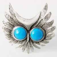 Vintage-like Metal Fabricated Turquoise Bead Owl Bird Face Bracelet Bangle Cuff: Jewelry: Amazon.com