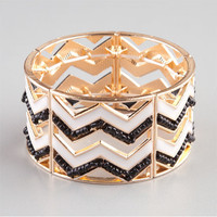 Full Tilt Chevron Bracelet Gold One Size For Women 23530762101