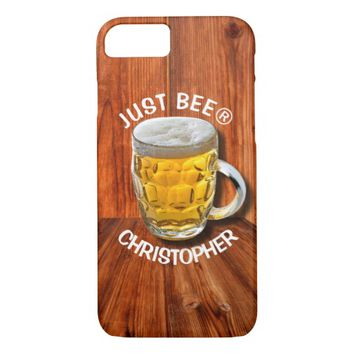 Glass Pint Beer Mug With White Head With Your Text iPhone 7 Case