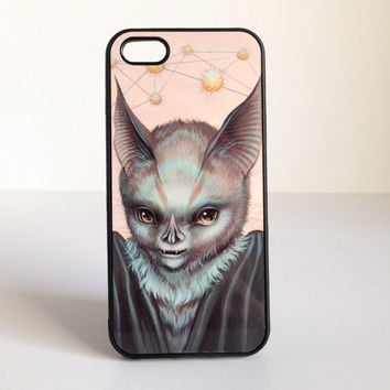 Science - Pink Bat - iPhone 5 or 5S cell phone case cover - by Mab Graves