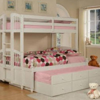 Caitlin Twin over Full Combo Bunk Beds