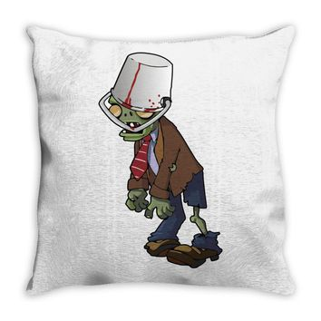 plant vs zombie Throw Pillow