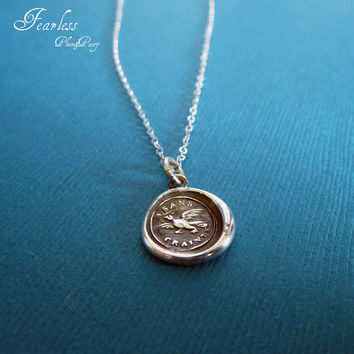 Fearless - Victorian Whimsy Eagle Wax Seal Necklace