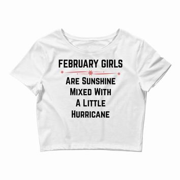 February girls Crop Top