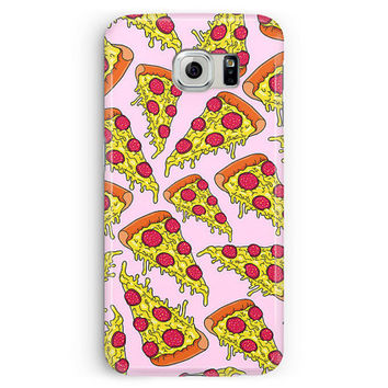 Pizza Phone Case, Pizza Samsung Case, Samsung S5 Case, Pizza pattern, S5 Case, Samsung Galaxy S5 Case, S5 Cover, Pizza Party, Plastic Phone