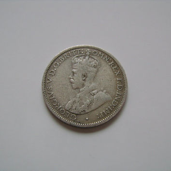 1935 Australia Sixpence Coin Australian Sterling Silver 6 Pence King George V and Coat of Arms Scarce Low Mintage Buy Antique Coins on ETSY