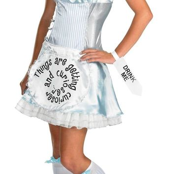 Alice in wonderland Adult Lg 12-14 awesome Halloween costumes 2017