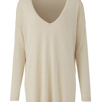 Oatmeal V Neck Sweater