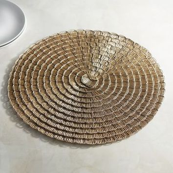 Golden Basketweave Placemat