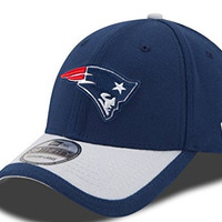 Men's New Era New England Patriots 39Thirty 2015 On field Hat Navy/Grey Size Large/X-Large