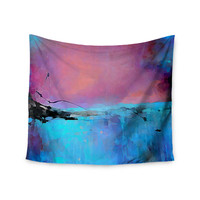 "Oriana Cordero ""Versailles-Abstract"" Pink Blue Wall Tapestry"