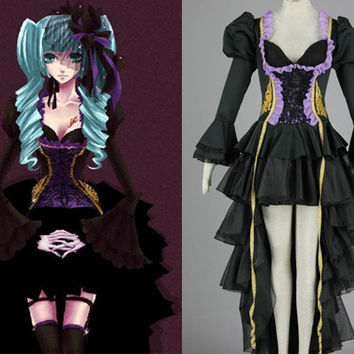Miku Hatsune Dress, Miku Costume, Miku Cosplay Costume