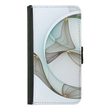 Fractal Abstract Elegance Wallet Phone Case For Samsung Galaxy S5