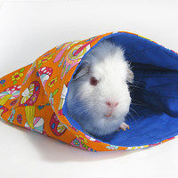 Summer Guinea Pig Sleepout Bags  Mushroom fields by Studio4Paws