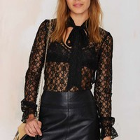 After Party Vintage Lace of Spades Top
