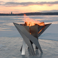 Steel Fire Pit PHOENIX FLOWER - Contemporary Design