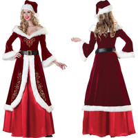 Lady New Christmas Clothing Women Christmas Queen Costume Santa Fantasy Costumes Adult Cosplay Festival Carnival B-3800