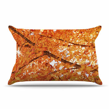 "Sylvia Coomes ""Fall Folioge"" Orange Yellow Pillow Sham"