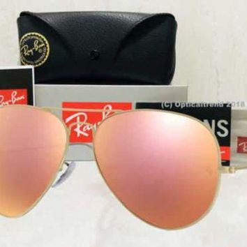 Gotopfashion Ray-Ban Aviator Gold Frame Rose Gold (Copper) Flash Mirror Lens- RB3025 112/z2