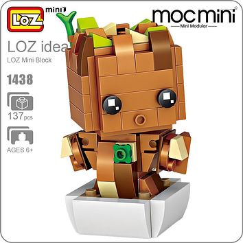 LOZ Building Blocks Baby Tree Figure Mini Block Hero Toys Hobbies Superhero Action Figures Figurine Plastic Assembly Toys 1438